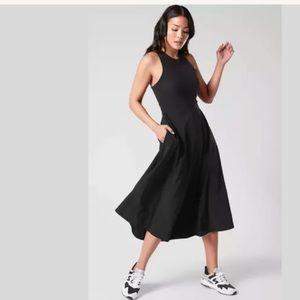ATHLETA Winona Midi Support Dress Black NWT